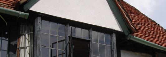 as oriel windows, illustrated by the surviving oriel