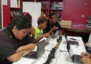 For the second year, Get IN Chicago, with additional support provided by Microsoft and CRT Labs, funded Smart Chicago Collaborative s Youth-Led Tech, a technology mentoring program for acutely