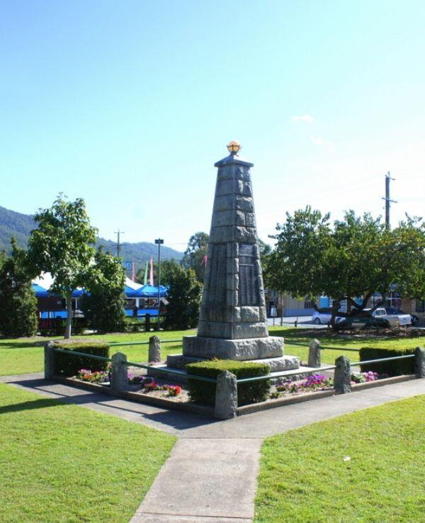 A. A. Duncan is remembered on the Canungra War
