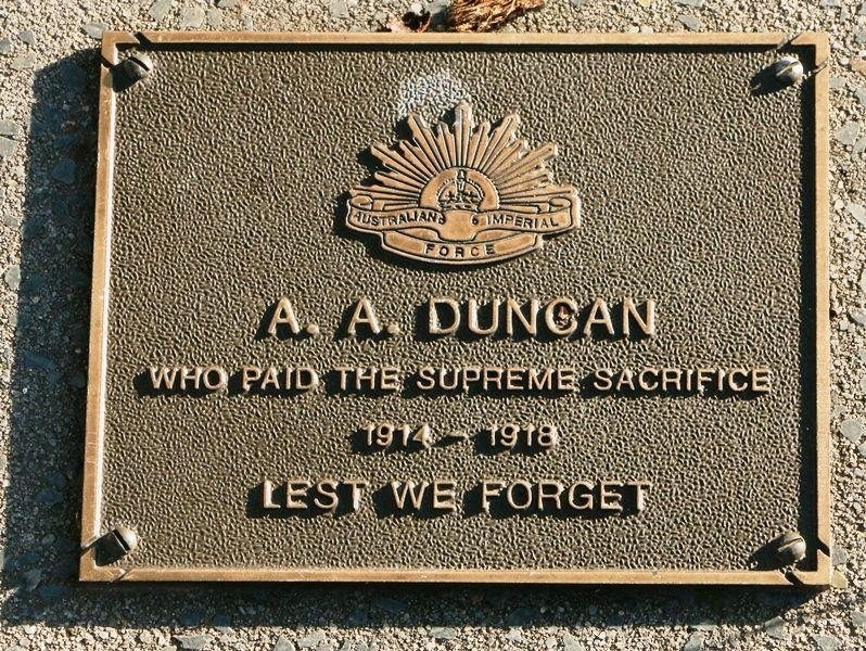 A tree has been planted to commemorate every serviceman from the Canungra District who died in service or