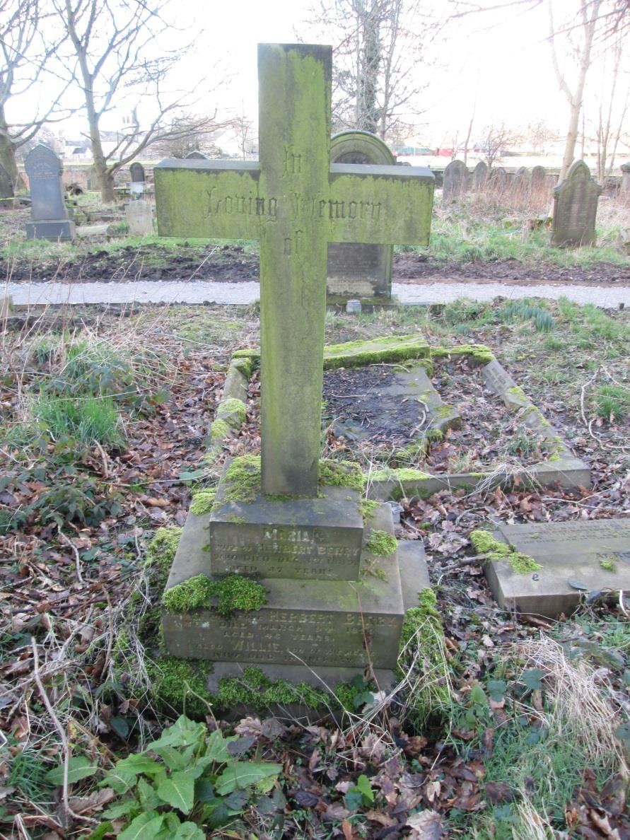 Two more St Matthew s Churchyard plots belonging to the Berry family Plot B59 This is the cross on Herbert