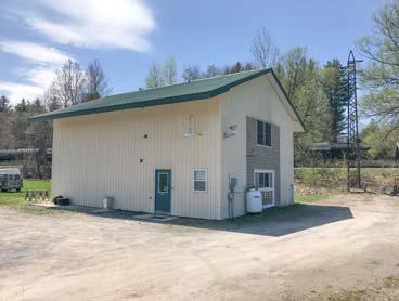 3 acres with 2 car insulated garage/workshop & 10x14 storage shed ON SNOWMOBILE/ATV TRAILS