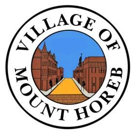 Village of Mount Horeb 138 E Main St Mount Horeb, WI 53572 Phone (608) 437-6884/Fax (608) 437-3190 Email: mhinfo@mounthorebwi.