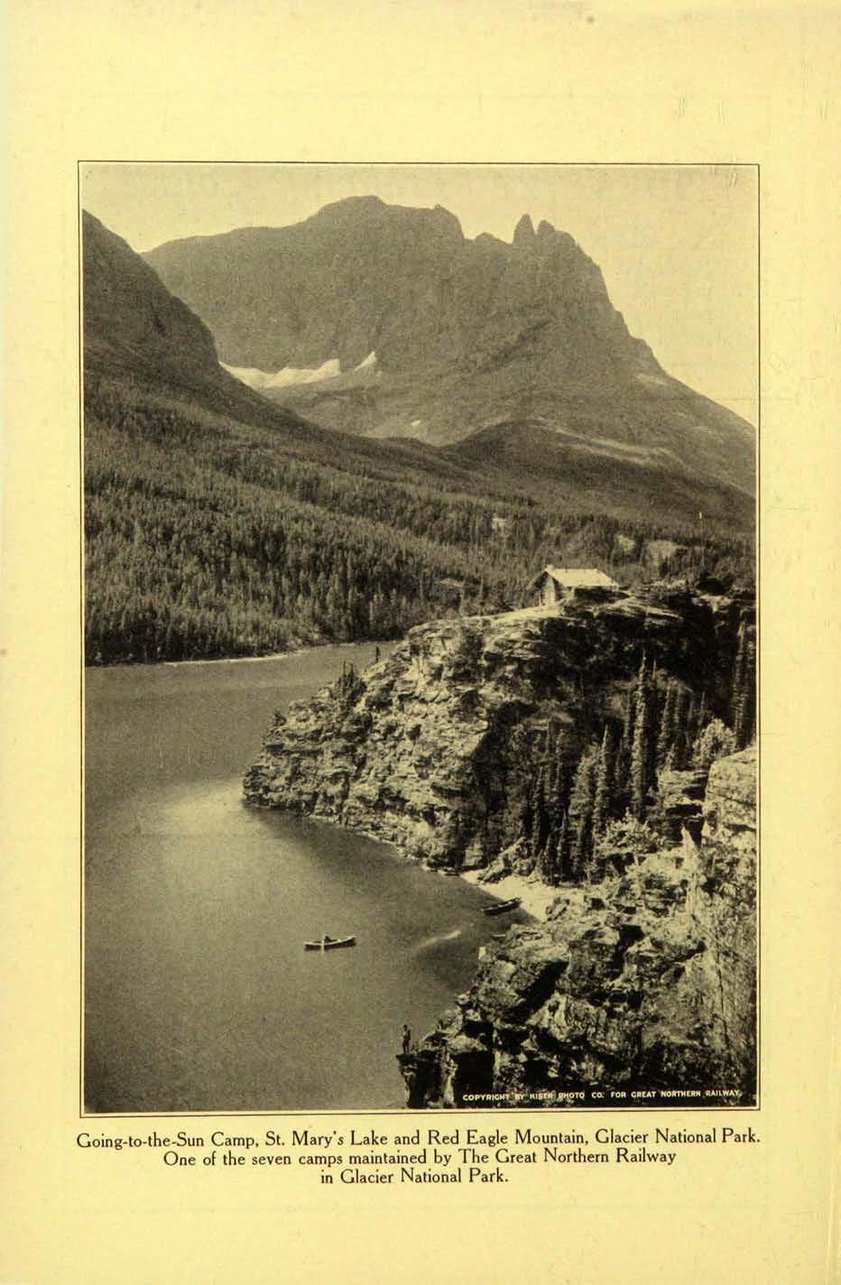 Going-to-the-Sun Camp, St. Mary's Lake and Red Eagle Mountain, Glacier National Park.
