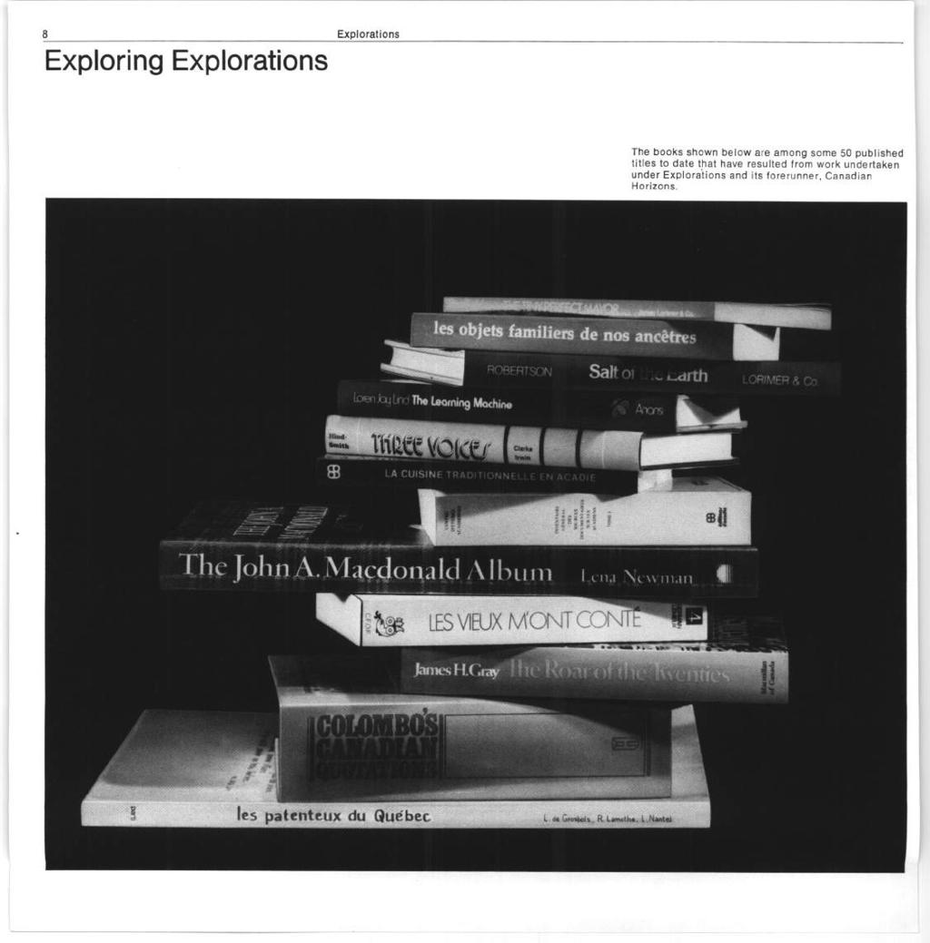 Exploring Explorations The books shown belon are among some 50 published titles to date that