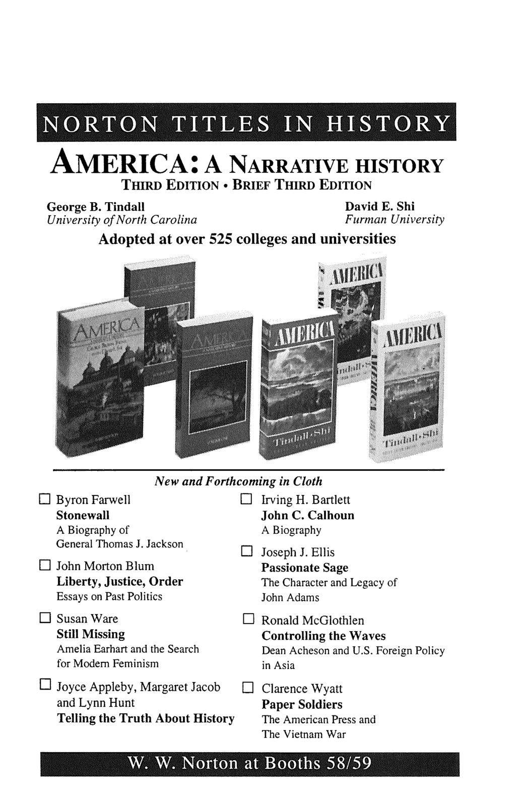 American historical association pdf norton titles in history america a narrative history third edition e brief third edition george fandeluxe Gallery
