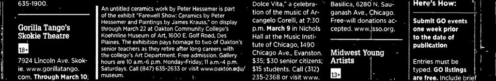 "hony Orchestra ""Slavic Favorites,"" 2:30 p.m. March 3 at Pick- Staiger Concert Hall, 50 Arts Circle Drive, Evanston."