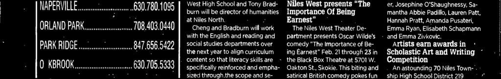 Her bachelor's in Engish is also from the University of Chicago. Tony Bradburn has been director of English and Reading at Nues North since 2011.