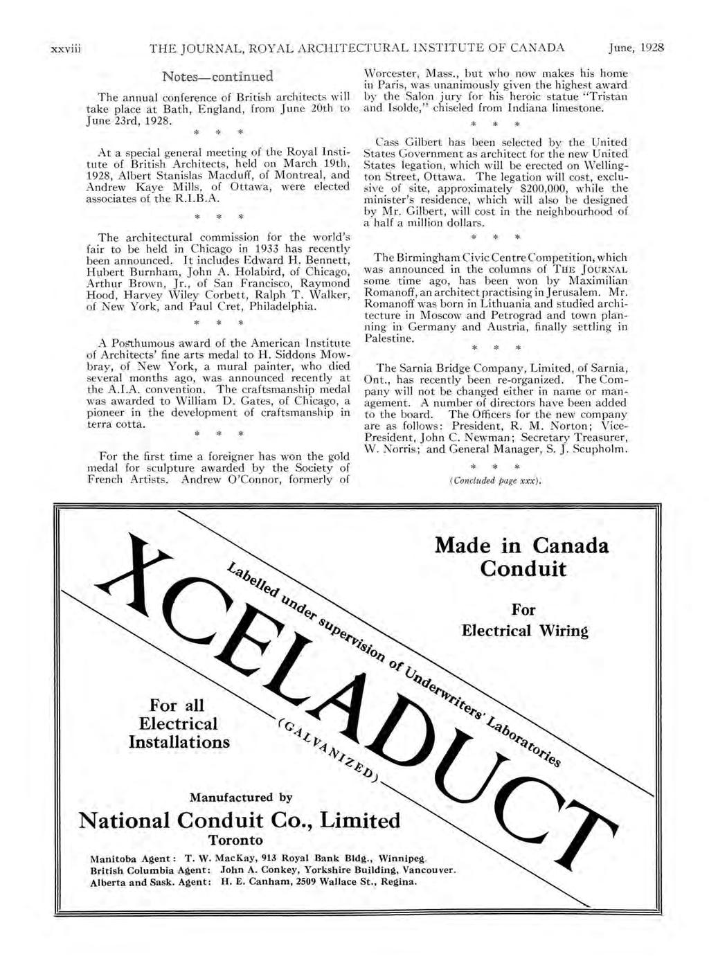The Journal Royal Architectural Institute Of Canada June Vol V No Wiring Money Rbc Xxv Ill Ar Chitectural I Nstitute 1928 Notes