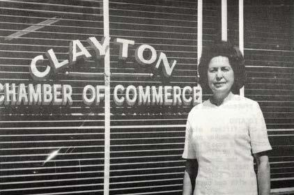 Clayton Chamber of Commerce In the late 1960 s, the Merchant s and Credit Association stopped doing credit reports and decided to change the name to Chamber of Commerce to be more fitting and start