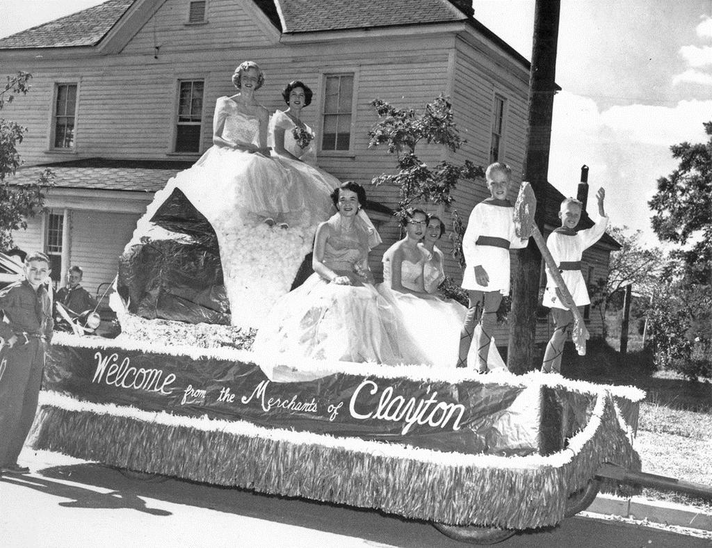 Joyce Barbour Collection) Float from Cotton Festival Parade in