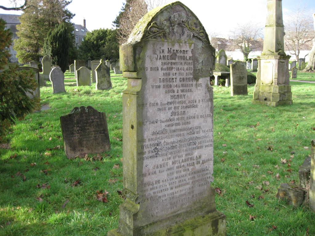 Her husband, Thomas Ower, died in Dundee and is probably buried there, but he is mentioned on his family headstone, though there is no mention of his wife.