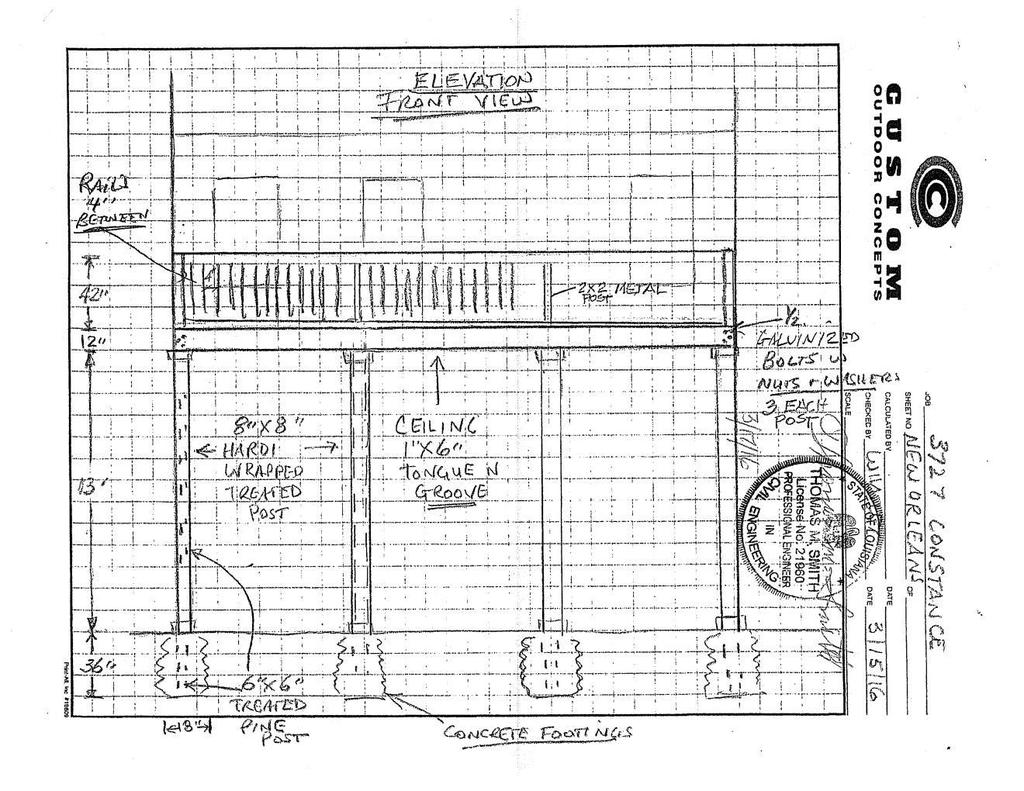 The applicant is proposing to expand an existing rear yard deck into a balcony with excessive encroachment into the required rear yard.
